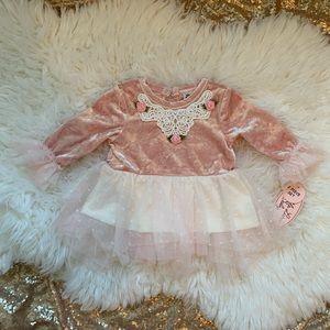 [Little Lass Baby] Velvet + Lace Dress